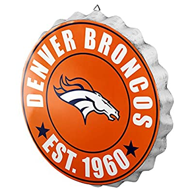 Denver Broncos NFL Bottle Cap Wall Sign