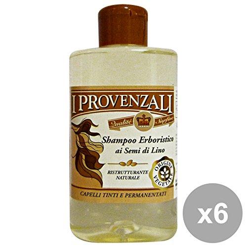 Les Provence Lot de 6 shampoings Graines de Lin 250 ml. Soin de la personne cheveux