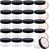 4 oz Containers with Lids, 24 Pack Clear Plastic Slime Jars, Empty Refillable Containers with Lids and Labels for Cosmetics, Lotions, Butters, Body sugar scrubs & Beauty Products