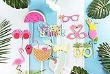 SUNBEAUTY Sommerfest Fotorequisiten 12er Set Booth Props Flamingo Foto Requisiten - 4