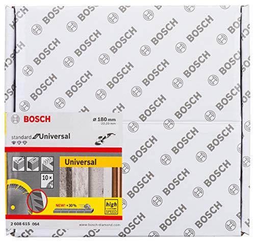 Bosch Professional 10 Stuks Diamantdoorslijpschijf Standard for Universal (beton en metselwerk, 180 x 22,23 mm, accessoire haakse slijper)