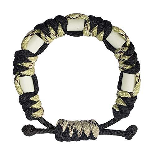 Anti Zecken Paracord Armband, Natürliche Zeckenabwehr mit EM Keramik Langlebig, Sichere Zeckenbekämpfung für Kinder und Erwachsene, Outdoor Zeckenschutz (Yin & Yang)
