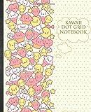 Kawaii Dot Grid Notebook: Adorable Japanese Kawaii Themed Grid Paper For Girls & Teens Cute School Supplies Idea