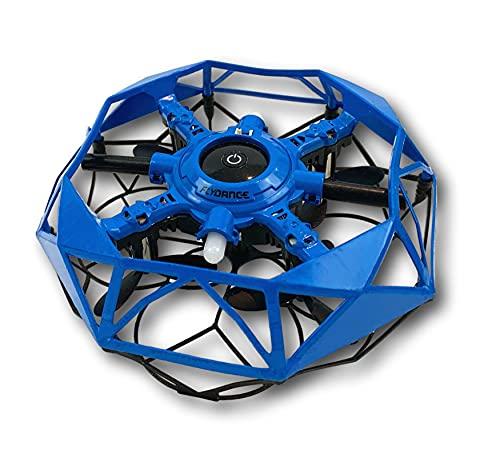 Juegaconmigo FLYDANCE, una Estrella Flotante Que Evita obstáculos y Que Haces Bailar con Tus Manos. Mini dron para niños. (Azul)