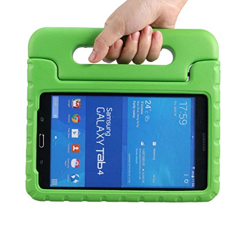 NEWSTYLE Tab 4 8.0 Shockproof Case Light Weight Kids Case Super Protection Cover Handle Stand Case for Kids Children for Samsung Galaxy Tab 4 8.0 8-inch SM-T330 SM-T331 SM-T335 - Green Color
