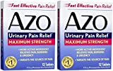 (2-Pack) AZO Urinary Pain Relief (Maximum Strength) 2 Boxes of 12 Tablets Each - Total of 24 Tablets