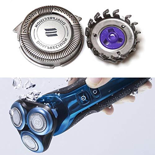 Qians Conjunto de Cabezal y Cortador de Repuesto para afeitadora eléctrica para afeitadora Philips Norelco HQ7310 PT720 PT725 PT730 AT750 AT751 AT890 y Otros Modelos Brilliant