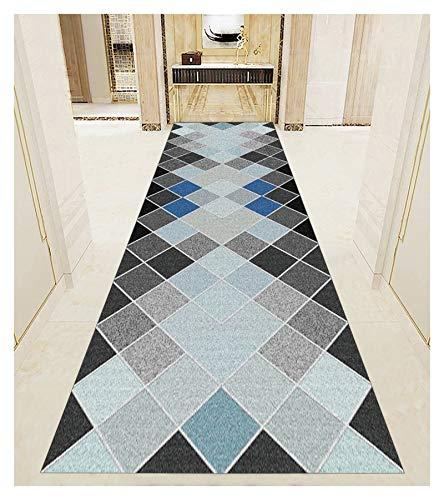 YYQIANG Alfombra de pasillo para pasillo de escaleras, pasillo y pasillo geométrico, alfombra larga, antideslizante, de moda y duradera (color: multicolor, tamaño: 80 x 700 cm)