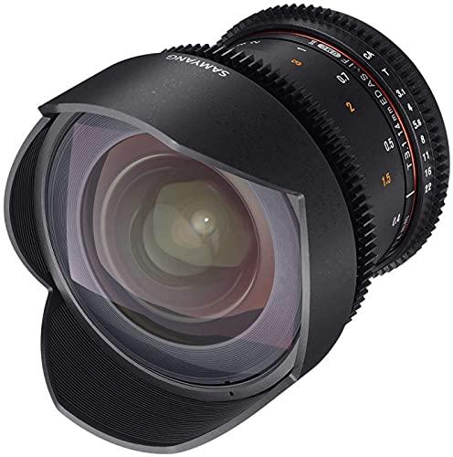 Samyang 14/3,1 Objektiv Video DSLR II Sony E manueller Fokus Videoobjektiv 0,8 Zahnkranz Gear, Weitwinkelobjektiv schwarz