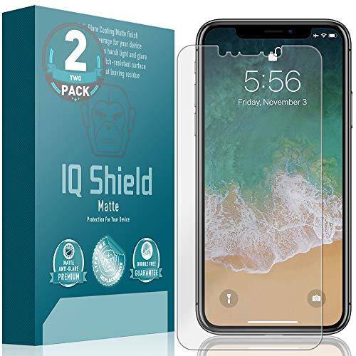 IQ Shield Matte Screen Protector Compatible with Apple iPhone Xs Max (6.5 inch)(Max Coverage)(2-Pack) Anti-Glare Anti-Bubble Film