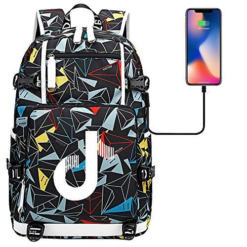 School Backpack Waterproof Laptop Men's Tablet USB Charging Port Backpack 45cm*30cm*15cm Type F