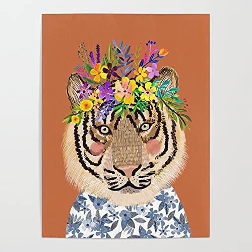 Malowanie według liczb, Corolla Tiger obraz na płótnie dla dorosłych i dzieci, z 3 szczotkami i farbami akrylowymi 40x50cmBezszkieletowy