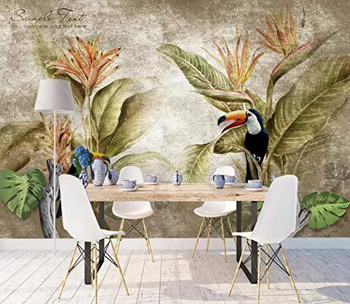 """3D Papegaai Blad WG0636 Behang Afdrukken Decal Deco Binnen Muur Muurschildering Zelfklevend Behang AJ WALLPAPER NL Muzi (Geweven papier (lijm nodig), 【205""""x114""""】520x290cm(WxH))"""