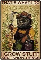 2個 8 x 12インチ、面白い猫レトロヴィンテージバーサインブリキサインヴィンテージアートメタルポスターレトロヴィンテージ メタルプレート レトロ アメリカン ブリキ 看板