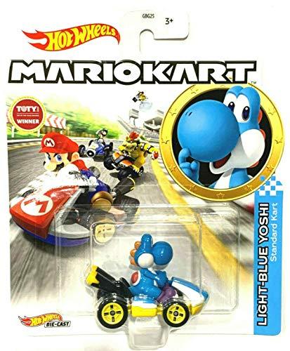 DieCast Hotwheels Mario Kart Light-Blue Yoshi (Standard Kart) 1:64 Scale Arizona