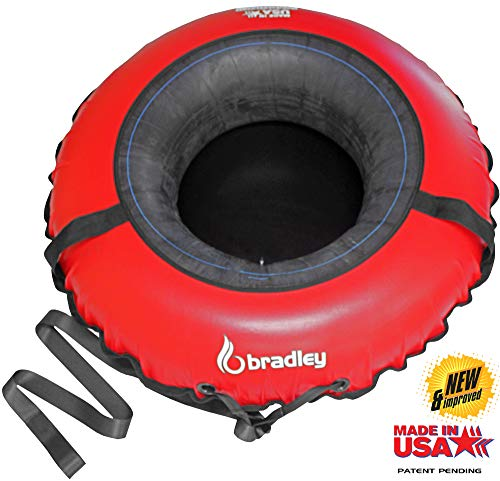 Bradley Commercial Towable Snow Tube Sled and Heavy Duty Cover (50' Red) | Made in USA