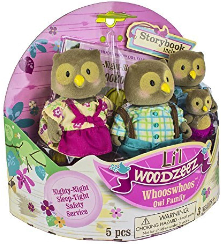 Li'l Woodzeez Whooswhoo Owl Family 4Piece Bedtime Set with Storybook by Li'l Woodzeez