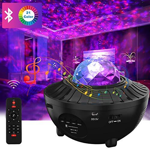DZY Sternenhimmel Projektor,Galaxy Projektor, Starry Music Projector Mit Bluetooth-Musikplayer, Verwendet für Schlafzimmer Stage Bar Schlafzimmer Hochzeit Weihnachten Dekoration.