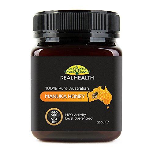Real Health - 100% reiner australischer Manuka Honig - MGO 500 - 250g