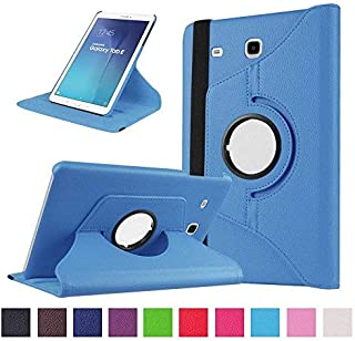 Samsung Galaxy Tab E 9.6 Coque,Flip Case Cover Avec Stand Étui en PU Cuir Rotative 360..