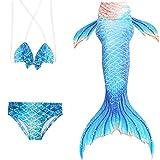 Das beste Mädchen Meerjungfrauen Bikini Kostüm Meerjungfrau Schwimmanzug Badeanzüge Tankini (130, 12)