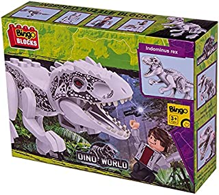 Bingo Dino World Building Blocks Toy with Indominus Rex Action Figure