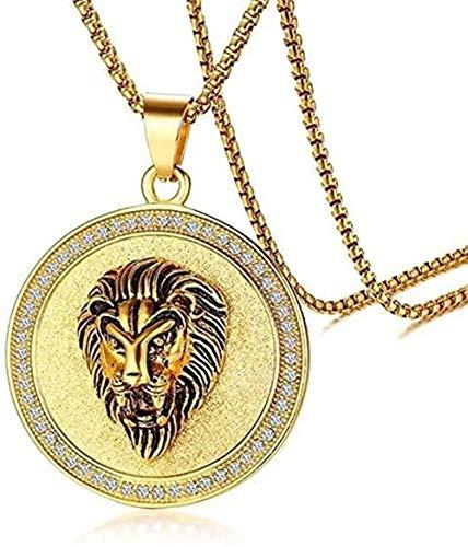 ZPPYMXGZ Co.,ltd Trendy Hip Hop Metal Jungle Lion Sliding Pendant Necklace for Men and Women