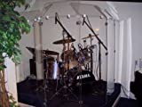 Drum Shield DS6D Comes with 6 Panels 2 Foot X 5 Foot with Deflectors Total Height 6'  Chrome Hinges