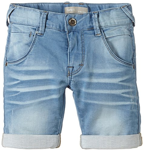 NAME IT Jungen RAS L Kids DNM REG LONGSHORTS NOOS S Short, Blau (Light Blue Denim), (Herstellergröße: 110)