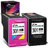 301 XL Cartuchos de tinta Remanufacturados para HP 301 XL 301XL Multipack para HP Envy 4500 4504 5530 5532 4502 Deskjet 1050 1510 1514 2540 2510 OfficeJet 4630 4632 2620 Impresora (1xTricolor 1xNegro)