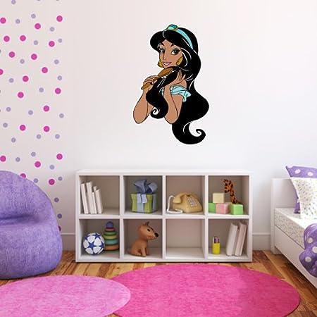 DISNEY PRINCESS JASMINE Aladdin Decal Removable WALL STICKER Home Decor Art Kids