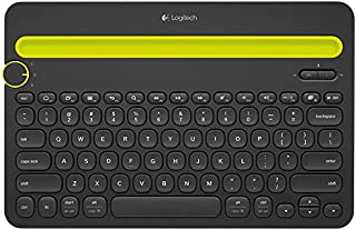 Logitech K480 Wireless Multi-Device Keyboard for Windows, Apple iOS, Android or Chrome, Wireless Bluetooth, Compact Space-...