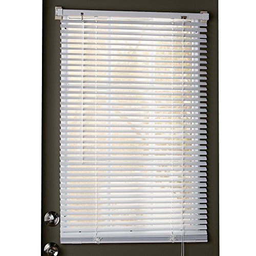Collections Etc Easy Install Magnetic Blinds, 1' Mini Quick Snap on/Snap Off, for Steel Metal Door Windows, White, 25' X 68'