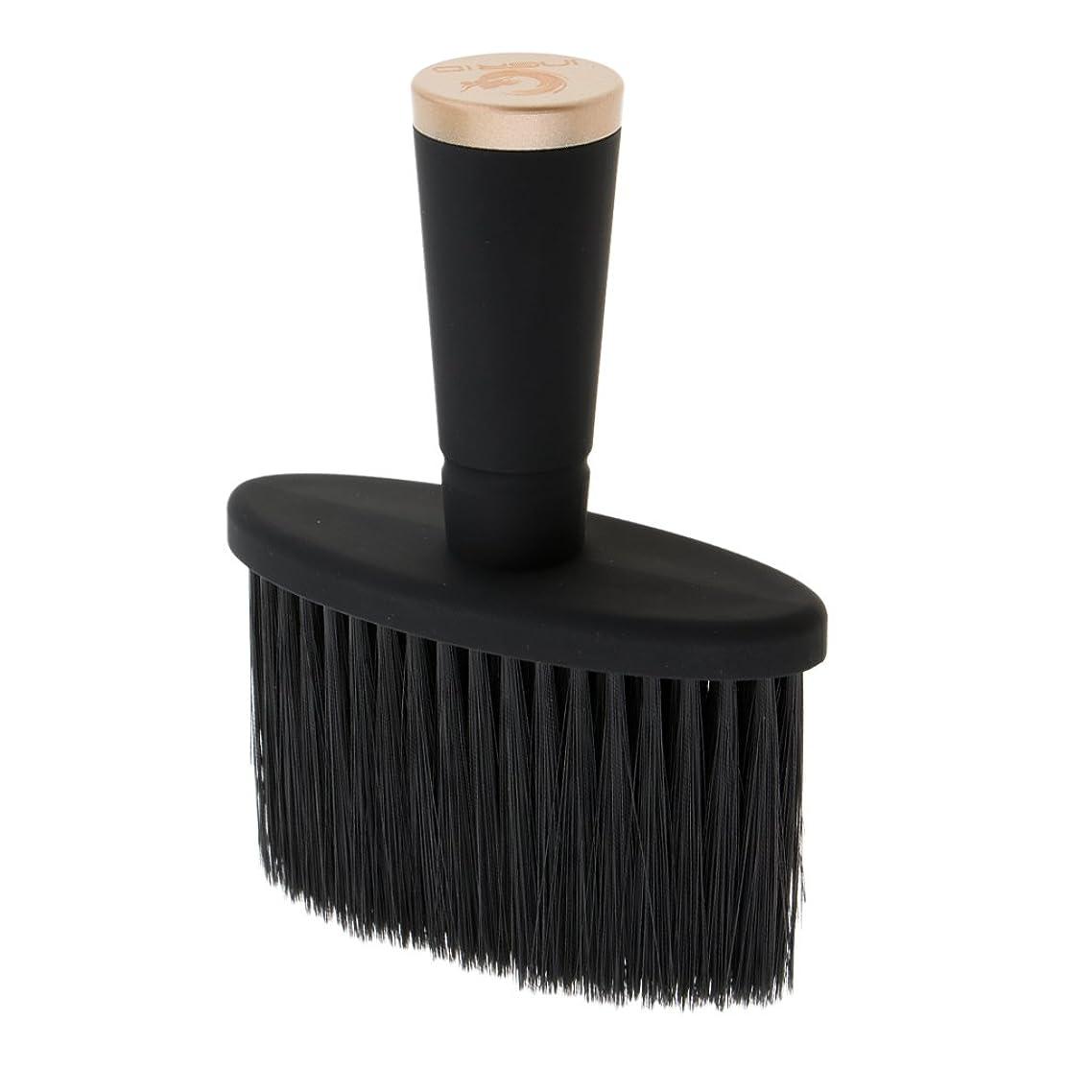 ソケット牛より多いPerfeclan ネックダスターブラシ ソフト ネックダスターブラシ サロン スタイリスト 理髪 メイクツール 全2色 - ゴールド