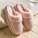 Inverno Pantofole Coppia caldo domestici pantofole di cotone donne di inverno pattini del cotone a casa signore coperte pantofole in lana spessa suola Pantofole ( Color : C , Size : 36-37 )