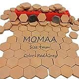 MOMAA Miniature Brick 1/16 - Miniature Hexagonal Brick Mini Scale Wall Bricks Model Building Set Construction Set Sand Table Micro Landscape Accessories DIY Dollhouse Bricks Diorama (red)