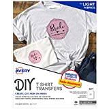 Avery Printable Heat Transfer Paper for Light Fabrics, 8.5' x 11', Inkjet Printer, 6 Iron On Transfers (3271)