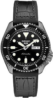 ساعة سيكو SRPE25 Seiko 5 رياضية للرجال أسود 42.5 مم ستانلس ستيل