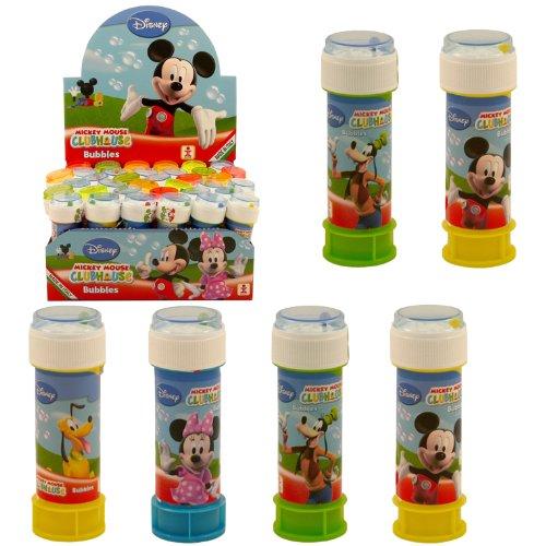 6 tubes à bulles Mickey Mouse Disney fête d'été pochette surprise pour enfant jouet d'extérieur.