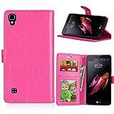 Qiaogle Téléphone Coque - PU Cuir Rabat Wallet Housse Case pour LG X Style (5.3 Pouce) - DK06 /...