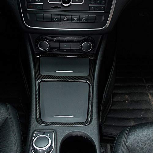 Fibre de carbone Chrome Intérieur Centre Boîte de rangement Coupez Cendrier Cadre pour Benz CLA GLA une Classe : C117 W176 2013–2018