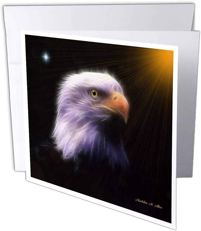 3dRosa gc_8397_2 Grußkarten Bald Eagle - D , 15 x 15 cm, 12 Stück B07B3TXWDG | Abrechnungspreis