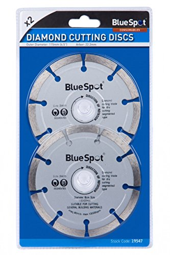 Blue Spot 19547 2 Piece 4 1/2 Inch Diamond Cutting Disc Set