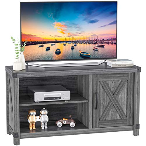 TV Console Cabinet for TVs up to 50 Inch W/Media Shelves, Farmhouse TV...