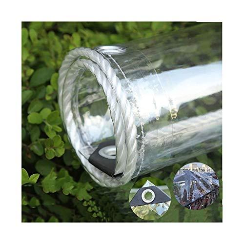ETNLT-FCZ Toldo Clear Tarpaulin Vidrio Claro Lona Impermeable de PVC Blando de Cine Cultivar un huerto casero Metal Anillo Espaciador 50CM a Prueba de Viento a Prueba de Polvo (Size : 1x4m/3.3x13ft)