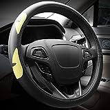Cpneer Auto-Lenkrad-Abdeckungen PU-Leder-Komfortabler Anti-Rutsch-Autolenkradverkleidung Fashion Fit for die meisten Autos Styling Universalgröße 38cm (14.96 In)