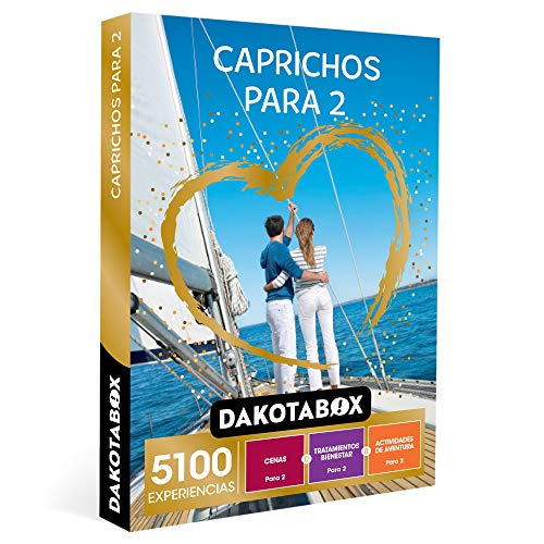 DAKOTABOX - Caja Regalo hombre mujer pareja idea de regalo - Caprichos para 2 - 5100 experiencias como tratamientos de bienestar, cenas y actividades de aventura