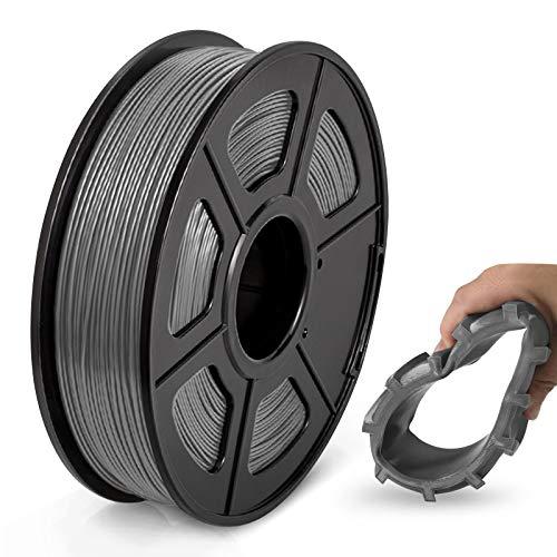 TPU Flexible Filament 1.75mm, JAYO 3D Drucker Filament TPU Härte 95A, Maßgenauigkeit +/- 0,02, 0.5KG/500G Spule, TPU Grau