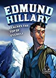 caricature of Edmund Hillary looking into distance