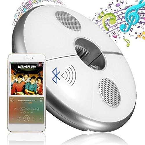 Mankoo USB LED-Schirmleuchte Bluetooth Lautsprecher 48 LEDs RGB Farbwechsel Sonnenschirm Wireless Regenschirm Lampe Wiederaufladbar USB Portable Licht für Camping Garten Outdoor Patio
